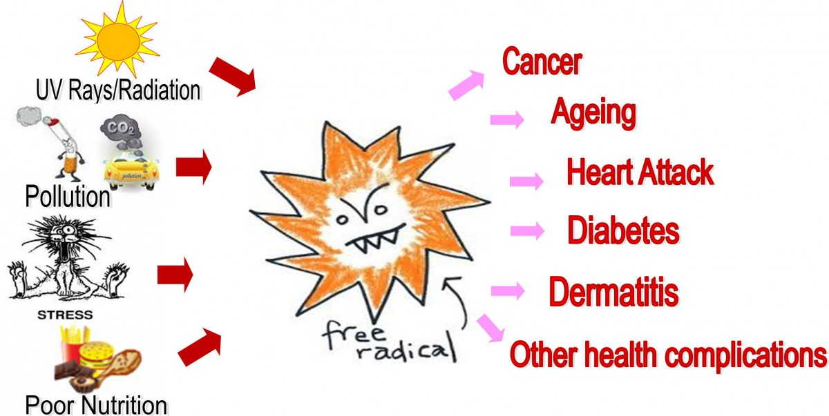 free radicals caused diseases