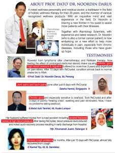 Research by Dr Noordin